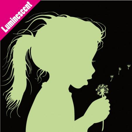 Luminescent Fillette qui souffle Fleur Pissenlit