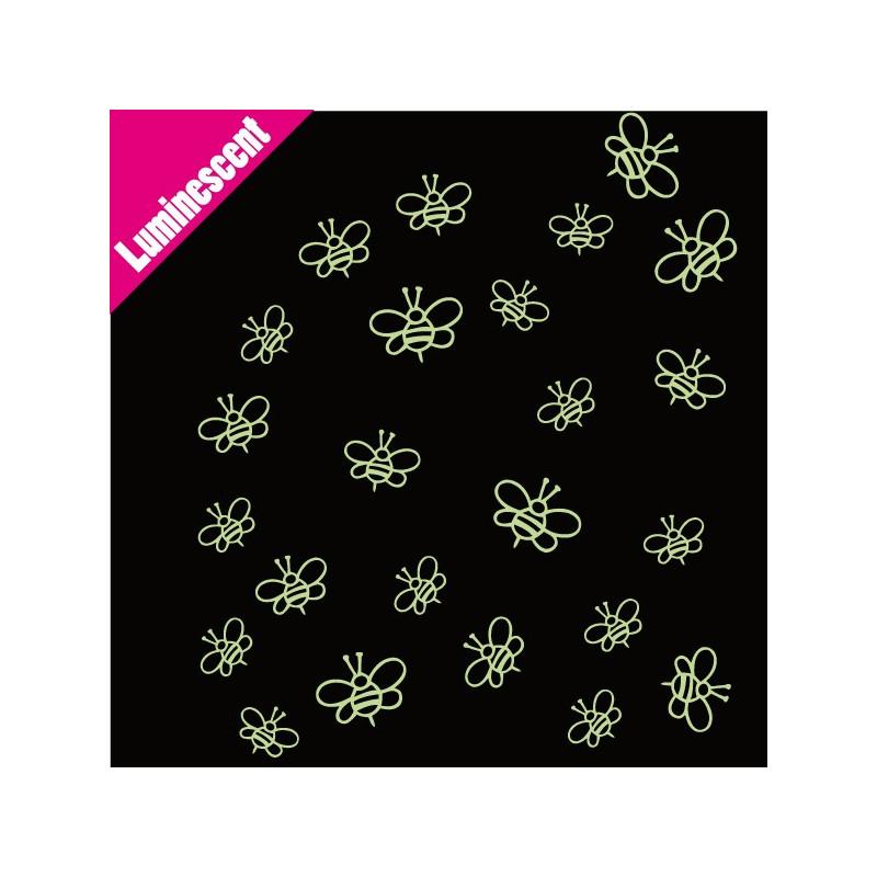 Sticker Luminescent Pack/Lot 24 Abeilles