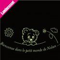 Sticker Luminescent Ourson Décor Bienvenue dans le petit monde de ...