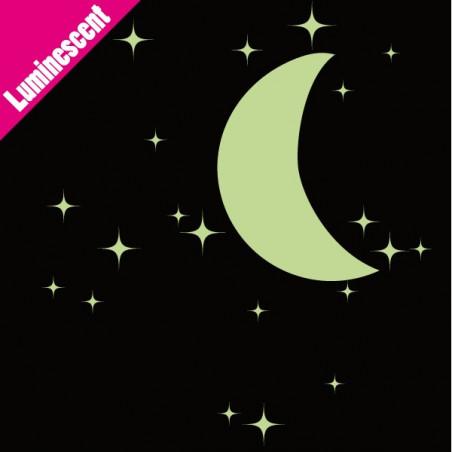 Luminescent 20 Etoiles et Demi-Lune