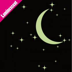 Sticker Luminescent 20 Etoiles et Lune