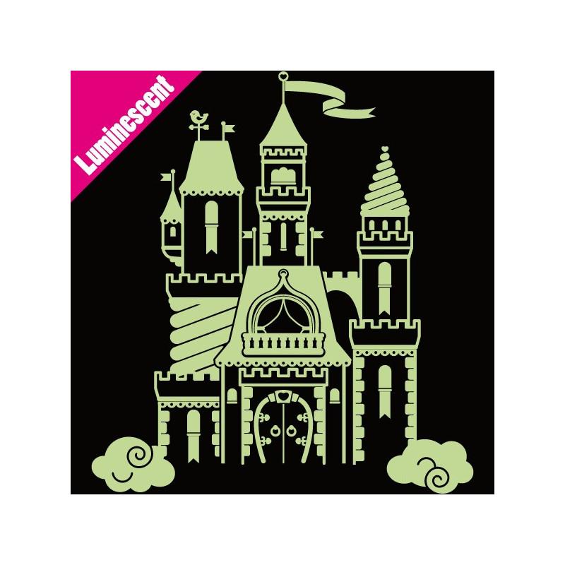 Sticker Luminescent Château Féérique de Princesse