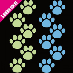 Sticker Luminescent 12 pas d'ourson 2 couleurs