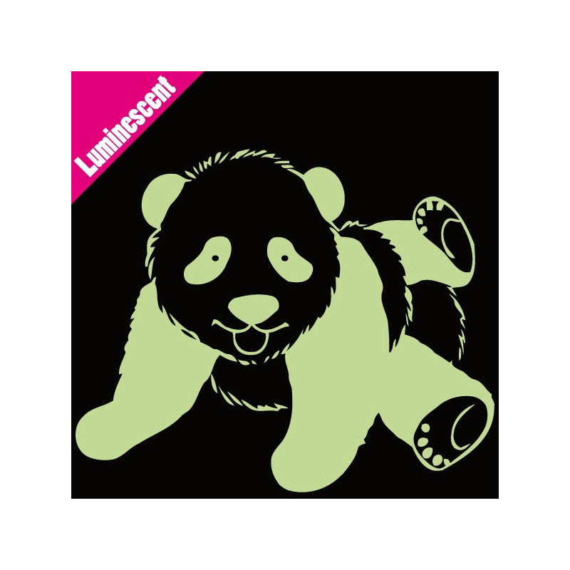 Sticker Luminescent Panda Allongé