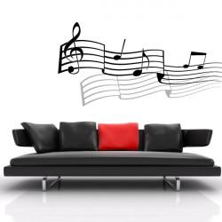 Sticker Portée musicale