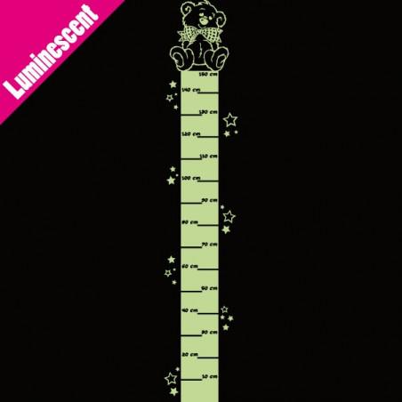 Luminescent Règle de croissance Toise - Ourson