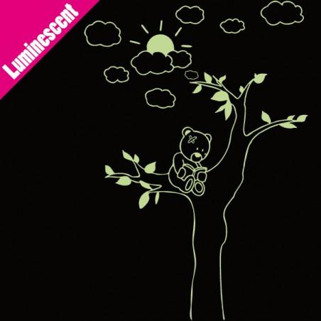 Sticker Luminescent Ourson dans un arbre
