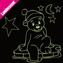 Sticker Luminescent Ourson Banquise et Etoiles