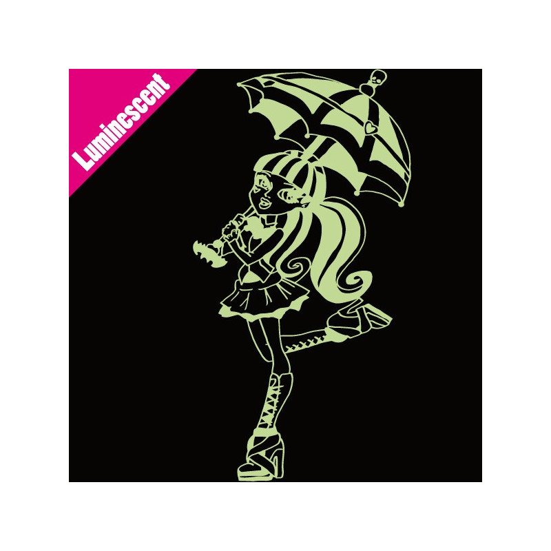 Sticker Luminescent Monster High - Draculaura Paraphuie Ouvert