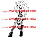 Sticker Monster High - Clawdeen Wolf de côté
