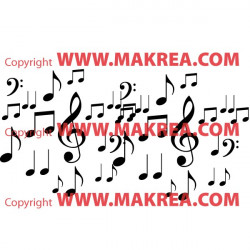 Sticker  Notes Musicales