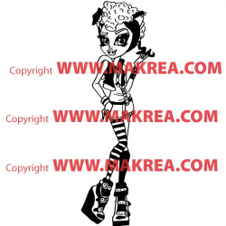 Sticker Monster High - Howleen Wolf