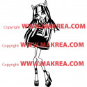 Sticker Monster High - Rochelle Goyle en Robe