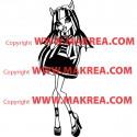 Sticker Monster High - Rochelle Goyle en Robe