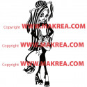 Sticker Monster High - Jinafire Long