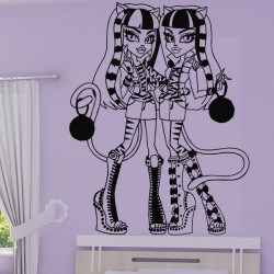 Sticker Monster High - Jumelles Purrsephone et Meowlody