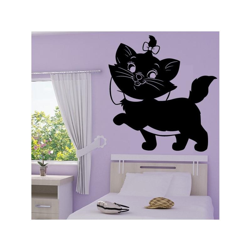 Sticker Marie la petite chatte de côté Colorée - Les Aristochats