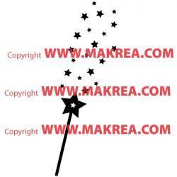 Sticker Baguette Magique Pluie d'étoiles