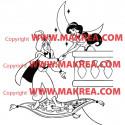 Sticker Aladdin et Jasmine Balcon