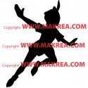 Sticker Silhouette Peter Pan