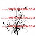 Sticker Floral bi-color 2