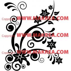 Sticker Fleurs Design 3