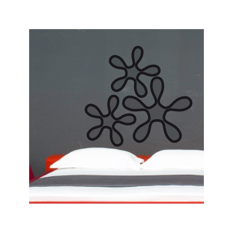 Sticker 3 Fleurs