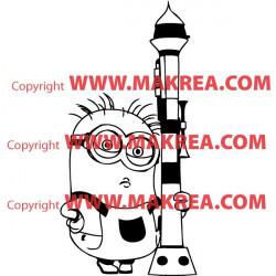 Sticker Les minions - Dave le Minion