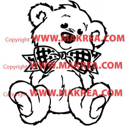 Sticker Ourson Noeud Papillon