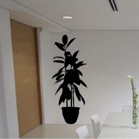 Sticker Plante verte en pot