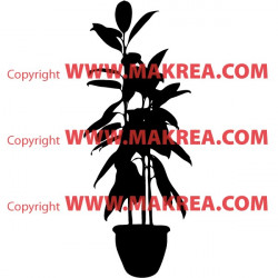 Sticker Plante verte en pot