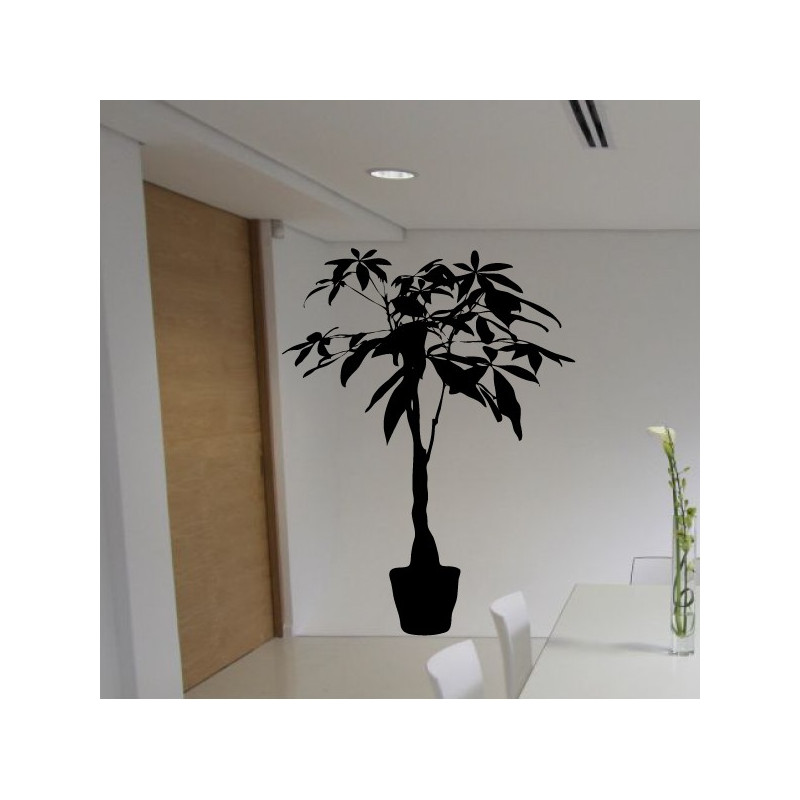 Sticker Plante verte en pot 2