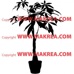 Sticker Plante verte en pot 2