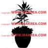 Sticker Plante verte en pot 3