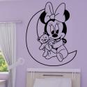 Sticker Minnie Bébé sur la Lune