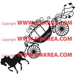 Sticker Carrosse de Princesse + prénom personnalisable