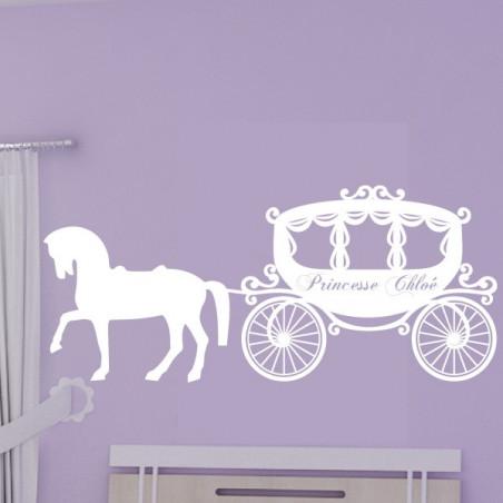 Carrosse de Princesse + prénom