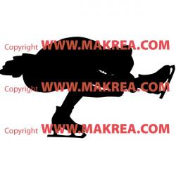 Sticker Patinage Artistique - Silhouette Pirouette