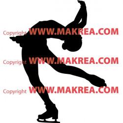 Sticker Patinage Artistique - Pirouette Cambrée en arrière
