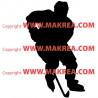 Sticker Silhouette Joueur de Hockey sur glace
