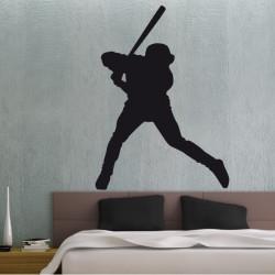 Sticker Silhouette Joueur de Baseball