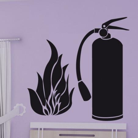 Extincteur Pompier + Flamme