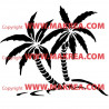 Sticker 2 cocotiers