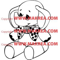 Sticker Eléphant Rigolo
