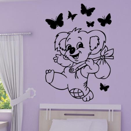 Bébé Koala Rigolo Papillons
