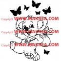 Sticker Bébé Koala Rigolo Papillons