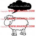 Sticker Mouton Rigolo - Nuage Fais de beaux rêves + Prénom personnalisé