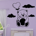 Sticker Ourson Ballon coeur
