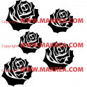 Sticker Kit 5 roses