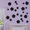 Sticker lot 23 Fleurs 3 tailles différentes